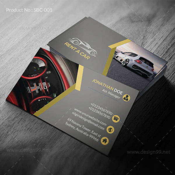 Rent a car business card design99 in available creative business card 01 colourmoves Gallery