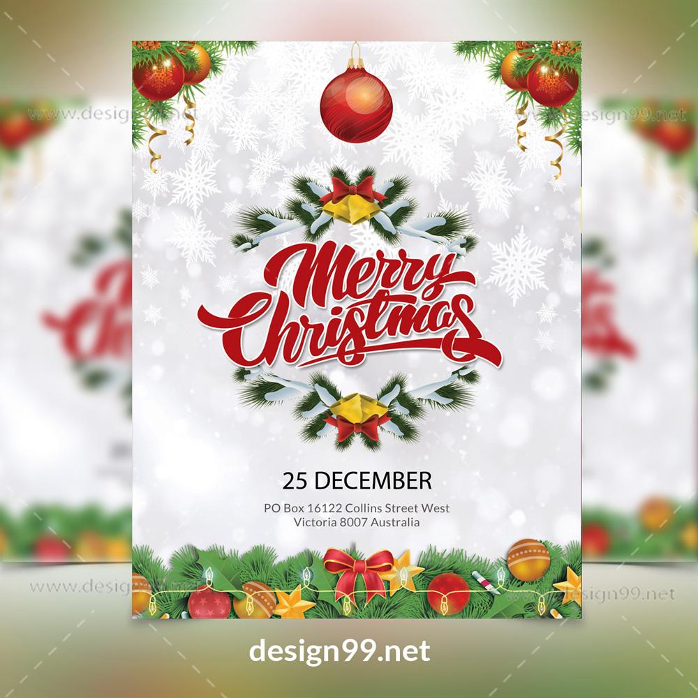 Free Christmas Flyer download, Free christmas flyer, christmas flyer template, christmas flyer design, free, flyer, christmas, christmas flyer eps file, 25 december, santa claus flyer, santa claus design, free santa claus flyer
