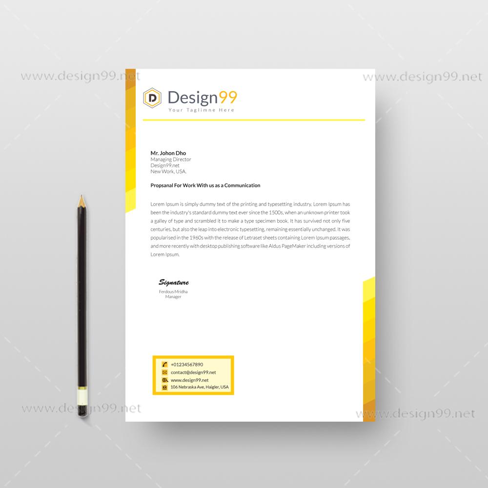 letterhead pad, letterhead pad design, free letterhead pad, pad design, vector pad design, free letterhead pad vector, creative letterhead pad, yellow letterhead pad, yellow letterhead pad design
