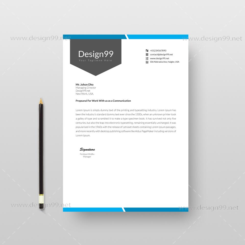 letterhead pad design, free letterhead pad, letterhead pad
