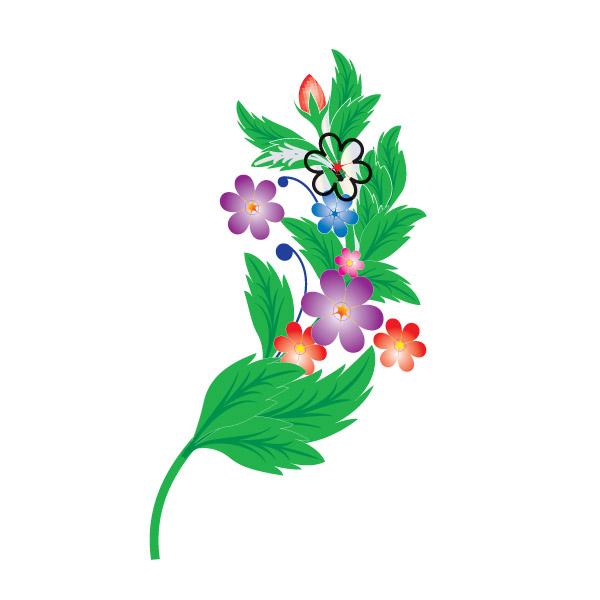 vector flower, flower, alpona flower