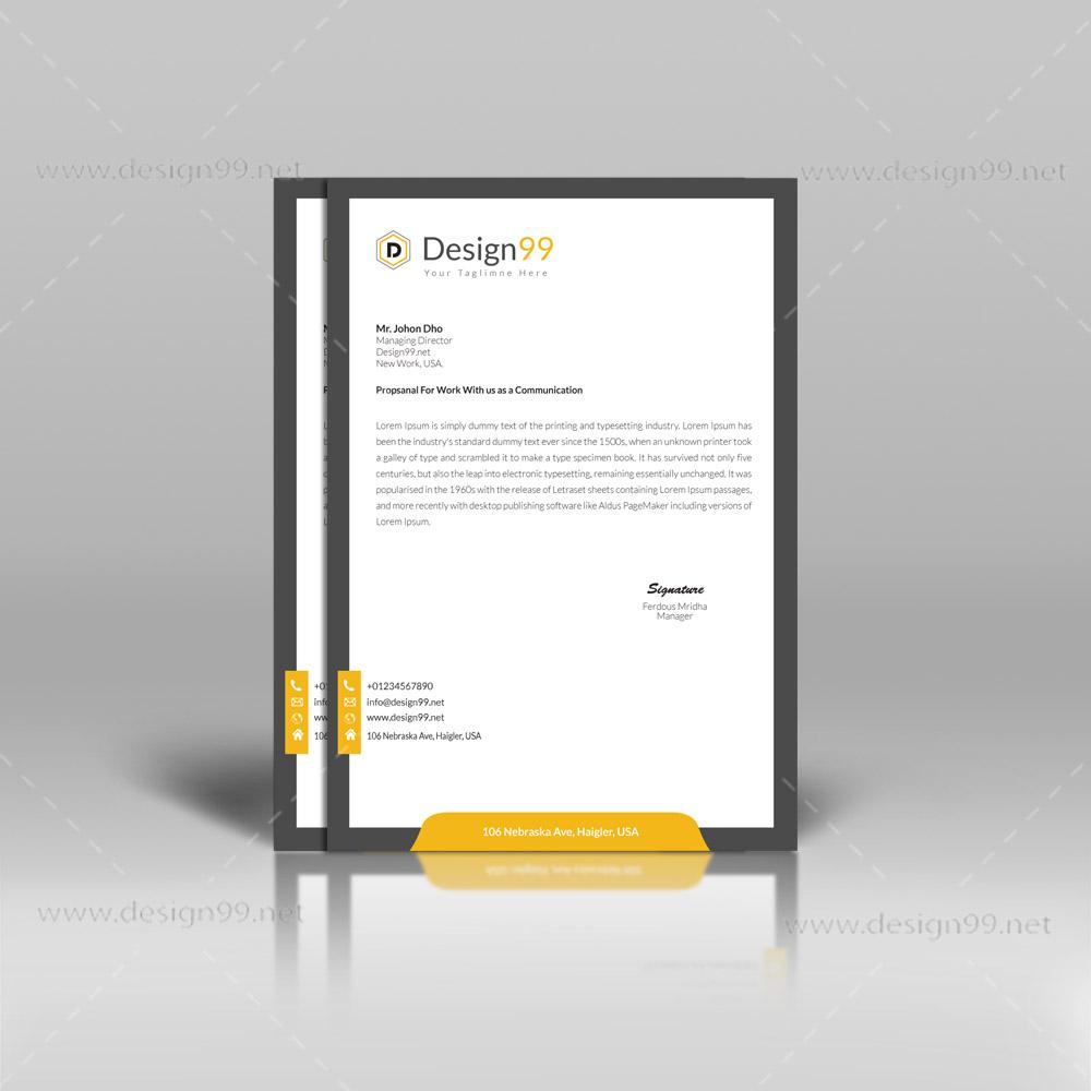 letterhead pad, letterhead pad design, business pad, advice pad