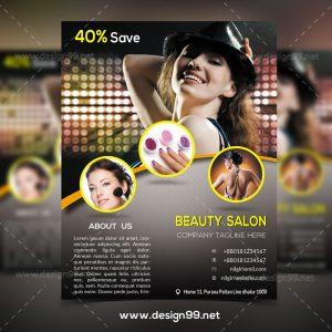 Beauty Salon Flyer, free beauty salon flyer, parlour flyer, parlor flyer, hair salon flyer